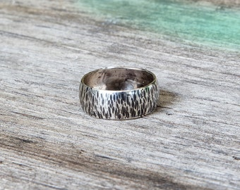Item #71, Sterling Silver Ring, Textured sterling, Handmade jewelry, Handmade ring