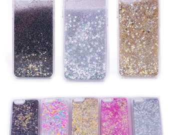 Silver Gold Black Moving Stars Liquid Glitter Quicksand 3D Bling iPhone 5/5s Case Cover NEW COLOURS!