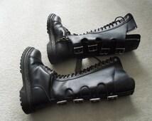 90s Demonia Goth Mens Combat Boots