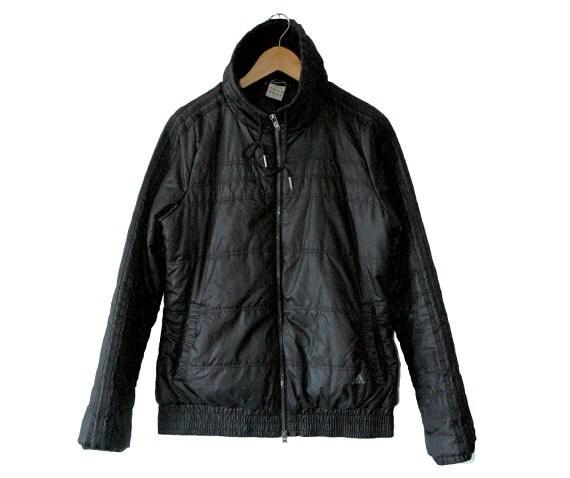 Adidas black bomber style jacket
