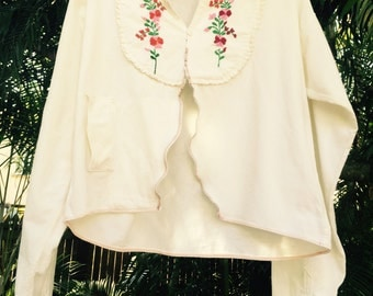 Vintage 70's embroidered mexican top