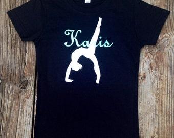 Gymnastics shirt, girls fitted shirt, personalized shirt, custom shirt