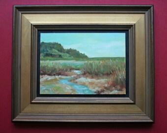 Oil Painting, Wellfleet Bay, Cape Cod, Massachusetts