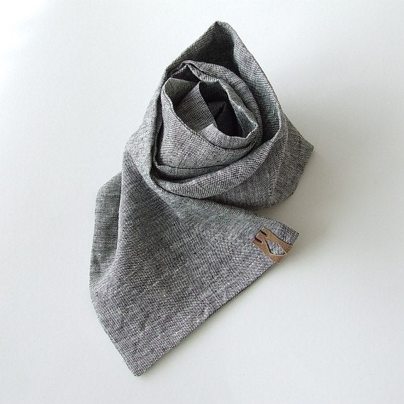linen scarf s summer scarf gray linen scarf for