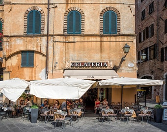 Lucca Gelateria, Tuscany, Italy Photography, Gallery Wall Art, Michael Evans, Summer In Italy, Romantic Italy, Abstract, Lucca Style,