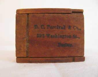 Antique Collectible Small Wooden Box