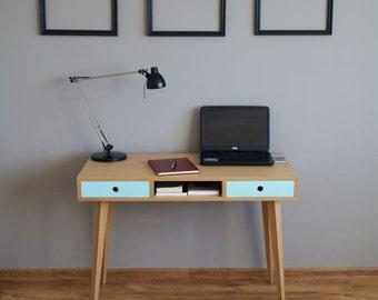 Desk with drawers, computer desk, work desk, scandinavian design