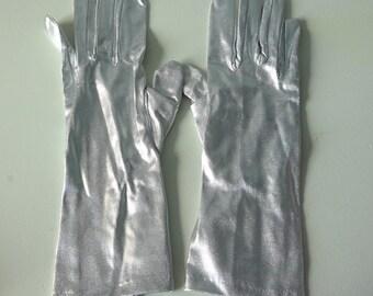 Silver vintage gloves