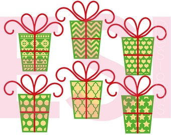 Christmas svg files, Present cut files, SVG, DXF, EPS, svg cutting files, for use with Silhouette and Cricut Design Space.