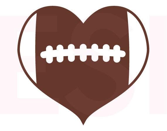football heart clipart - photo #7