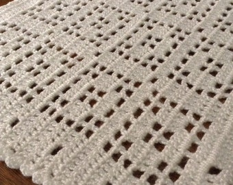 Handmade Placemats Set of 4, Crocheted Placemats