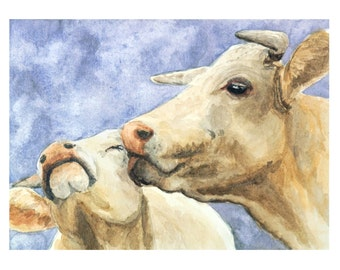 COW PRINT cow painting, farm art, cow art, cow art print, cow wall art, cow picture, cow paintings, cow wall decor, cow gift, watercolor cow