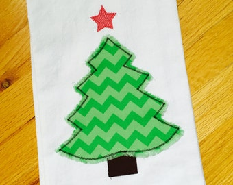 Christmas Tree Flour Sack Dish Towel