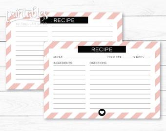 editable recipe card template