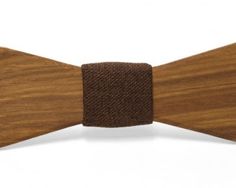 Bow tie Bill of Canary wood and cotton