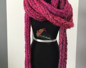 Finger Knitted Cord Scarf (3 link) #adornments