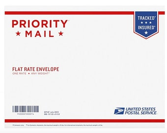 Priority Mail Flat rate envelope 2-3 day Shipping service Upgrade