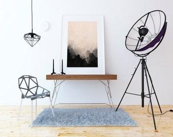 Printable Art, Abstract Art, Print Ambre, Poster Minimalist, Art Home Decor, Instant Download, Modern Wall Art, White Geometric
