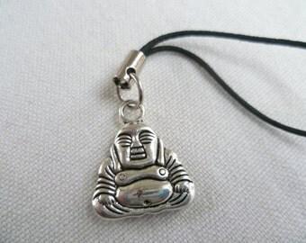 Buddha phone charm,buddha cell phone charm,gift,mobile accessory,buddha charm,silver buddha