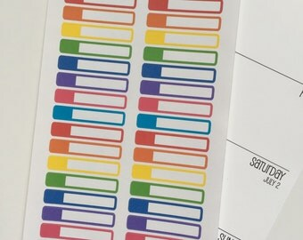 Primary Colors Skinny Event Label Stickers