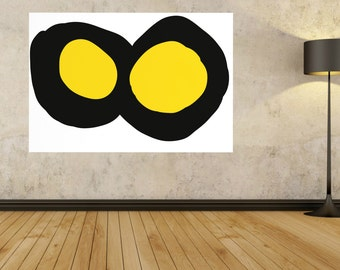 LARGE PAINTING yellow black and white Abstract painting, Large Abstract, Minimalist Art, Abstract Canvas, Modern Contemporary home decor