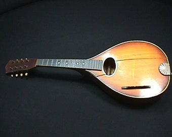Antique Solid Wood Unknown Maker Eight String Mandolin being sold in as-is Condition