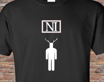 "Monty Python and the Holy Grail Inspired T-Shirt - ""Ni"" Gift British Humour Nerd Men Women"