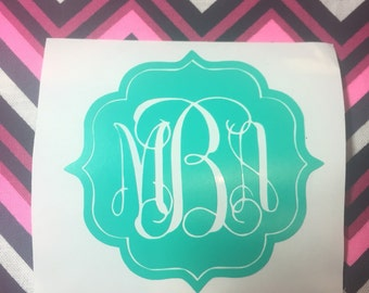 Custom Size Framed Monogram