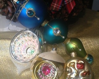 MOVING SALE Christmas mercury glass ornaments