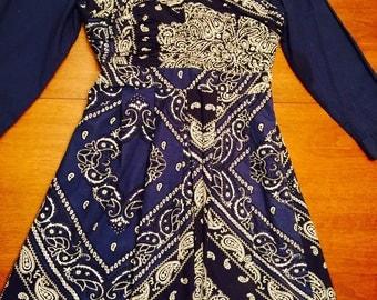 Anthropologie Bandana Dress