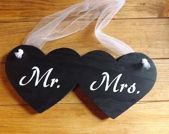 Mr. & Mrs. Heart wedding photo prop country decor rustic wedding decor country wedding decor engagement photo prop
