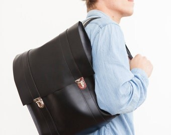 Backpack made of genuine leather, unisex