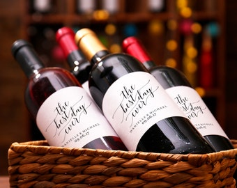 Wedding Wine Label, Custom Wine Label, The Best Day Ever Wine Label Printable, Wedding Printable, PDF Instant Download #BPB310_28