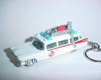 3D 1959 Cadillac Ecto -One custom keychain by Brian Thornton keyring key chain diecast metal GHOSTBUSTERS