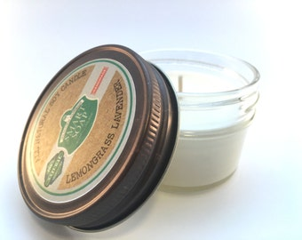 100% All Natural Aromatherapy Soy Wax Candle with Essential Oils