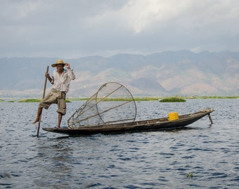 Download: Fisherman on Inle Lake, Myanmar