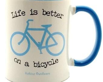 Bicycle Coffee Mug Blue, Bicycle Mugs, Coffee Mugs, Bike Mugs, Bike Coffee Mugs, Bicycle Mug, Blue Bicycle Mug, Blue Bike Mug