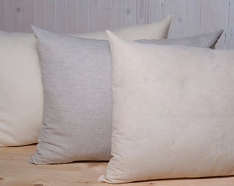 Wool Filled Pillow / Size and Fabric Options Available