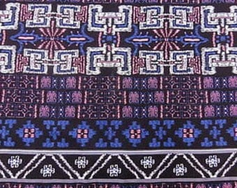100% Rayon with Colorful Geometric Pattern