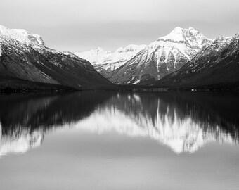 Glacier Nation Park Reflection Photograph
