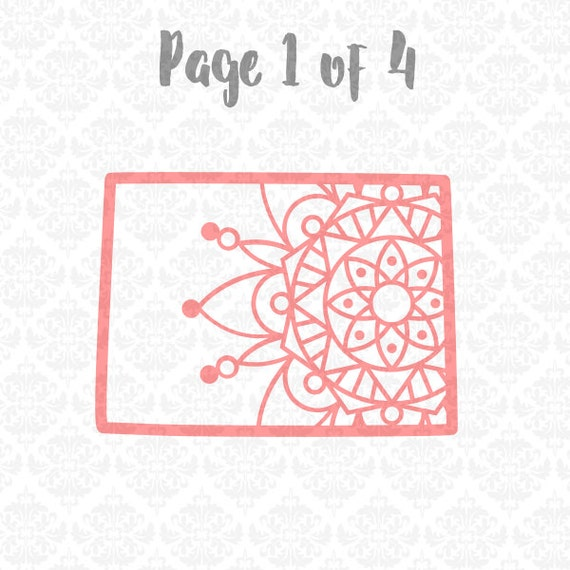 Colorado Henna Paisley Filigree Zentangle Pattern SVG DXF Ai Eps PNG Vector Instant Download Commercial Use Cutting File Cricut Silhouette