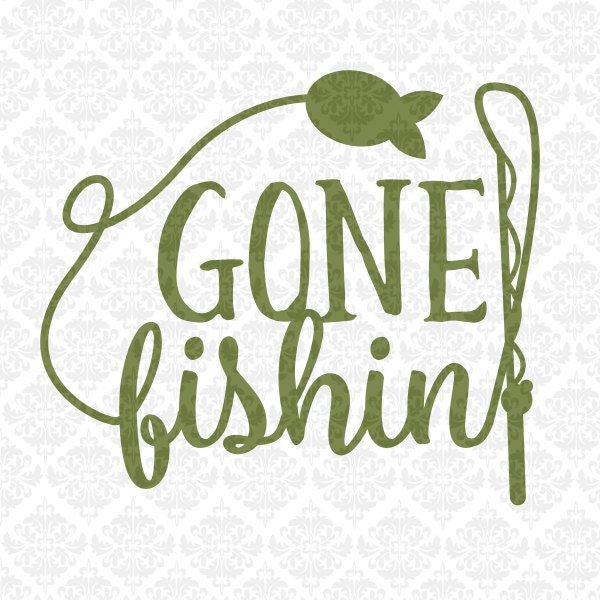 Fisherman Fishing Pole Monogram I M A Reel Catch Gone