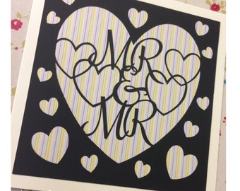Mr and Mr Paper Cutting Template - Commercial Use