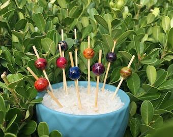 Japanese Beads Cupcake Topper