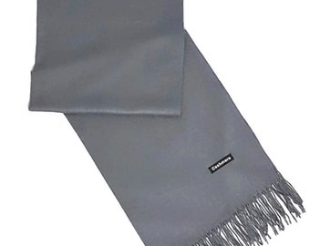 Ladies Super Soft Cashmere Luxury Feel Scarf/Shawl For Day To Evening Occasions (Grey)
