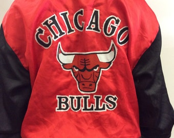Red Chicago Bulls Jacket Size L/XL