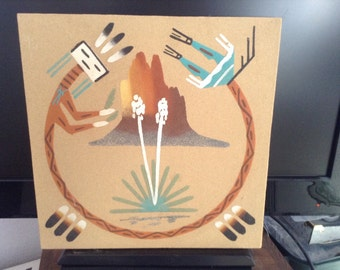 R Begay Navajo Yei sand painting