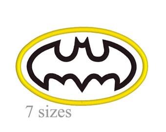 Batman applique design, Batman logo applique design, Instant download