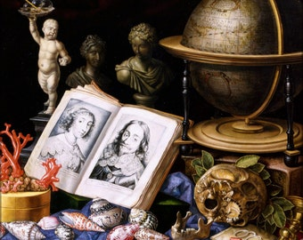 24x36 Poster . Allegory Of Charles I Of England Still Life By Carstian Luyckx