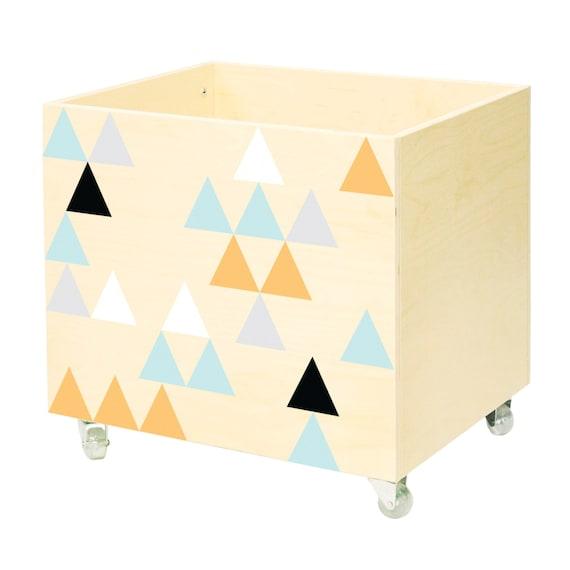 conjunto de dos cuadros pecho de juguete caja de por nobobobo. Black Bedroom Furniture Sets. Home Design Ideas